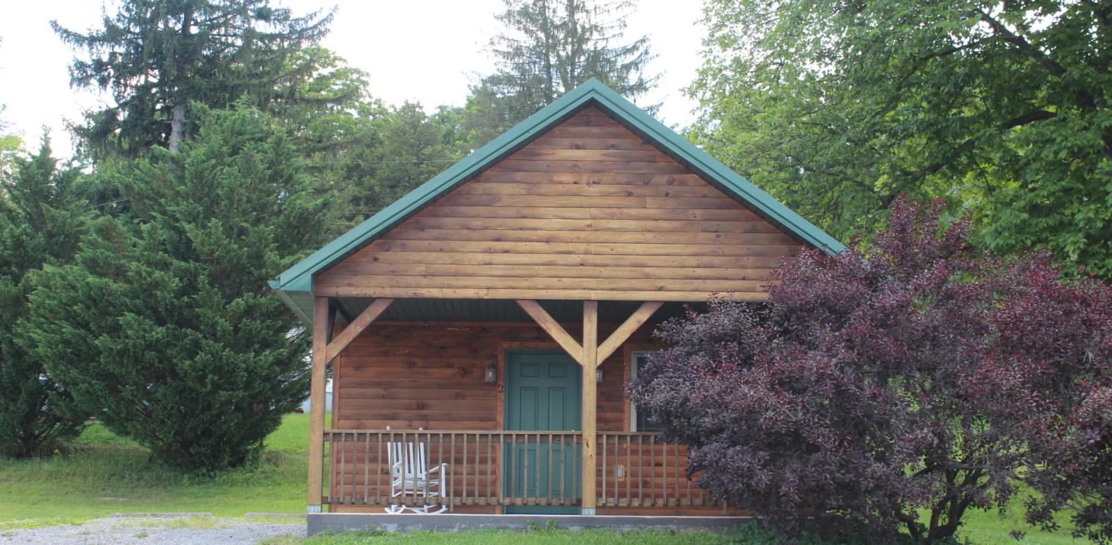 Cabin 2 exterior with porch